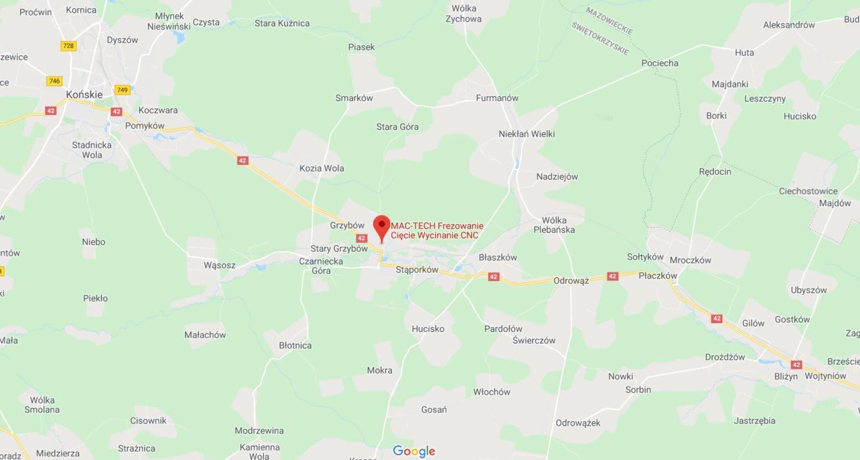 Mapa lokalizacji firmy Mac-Tech